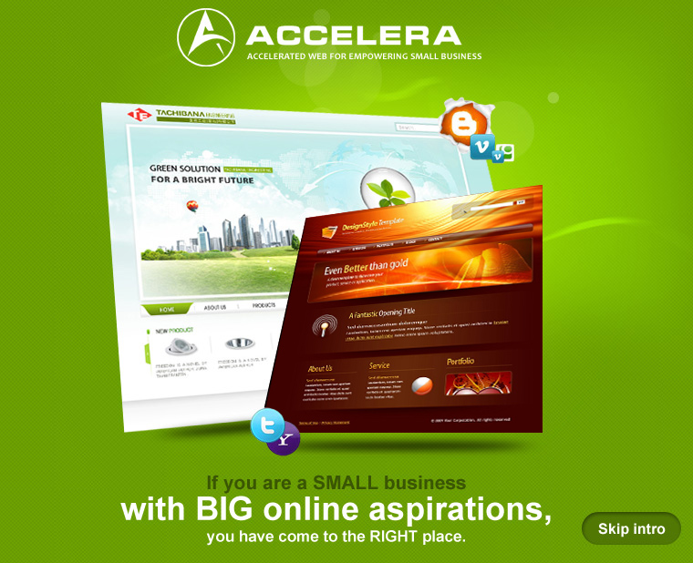 If you are small business with big online aspirations, you have come to the right place - Accelera Corporation