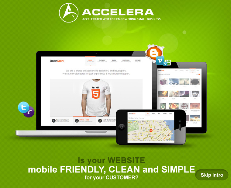Is your website mobile firendly, clean and simple for your customers - Accelera Corporation